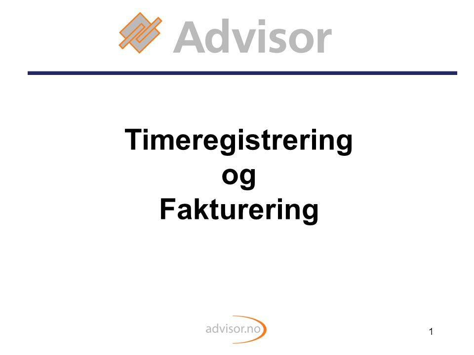 1 Timeregistrering og Fakturering