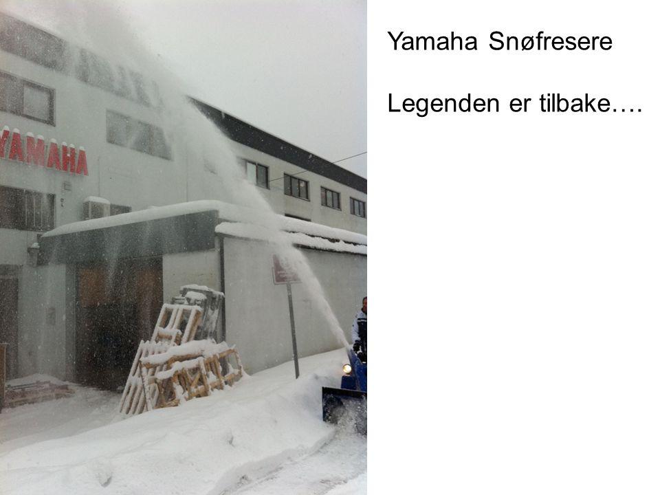 Yamaha Snøfresere Legenden er tilbake….