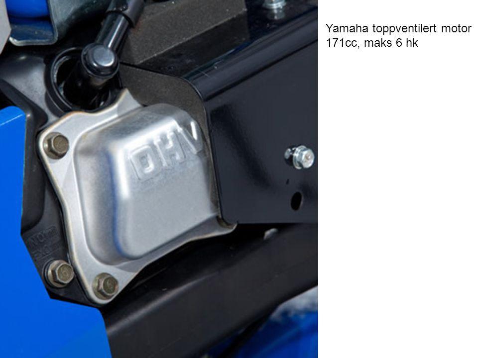 Yamaha toppventilert motor 171cc, maks 6 hk