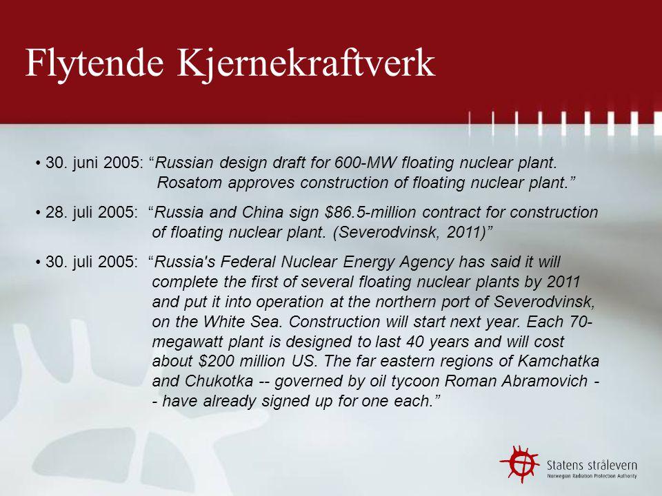 Flytende Kjernekraftverk 4.