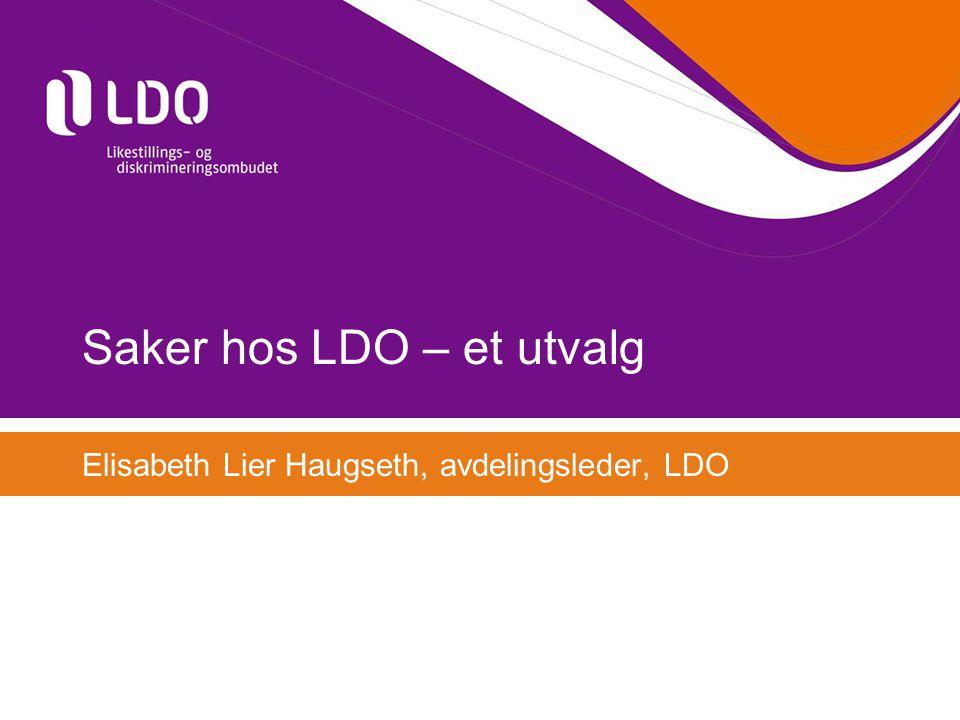 Saker hos LDO – et utvalg Elisabeth Lier Haugseth, avdelingsleder, LDO