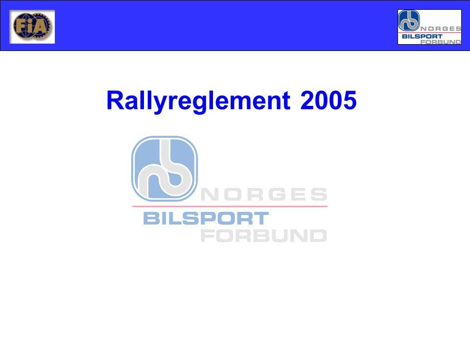 Rallyreglement 2005