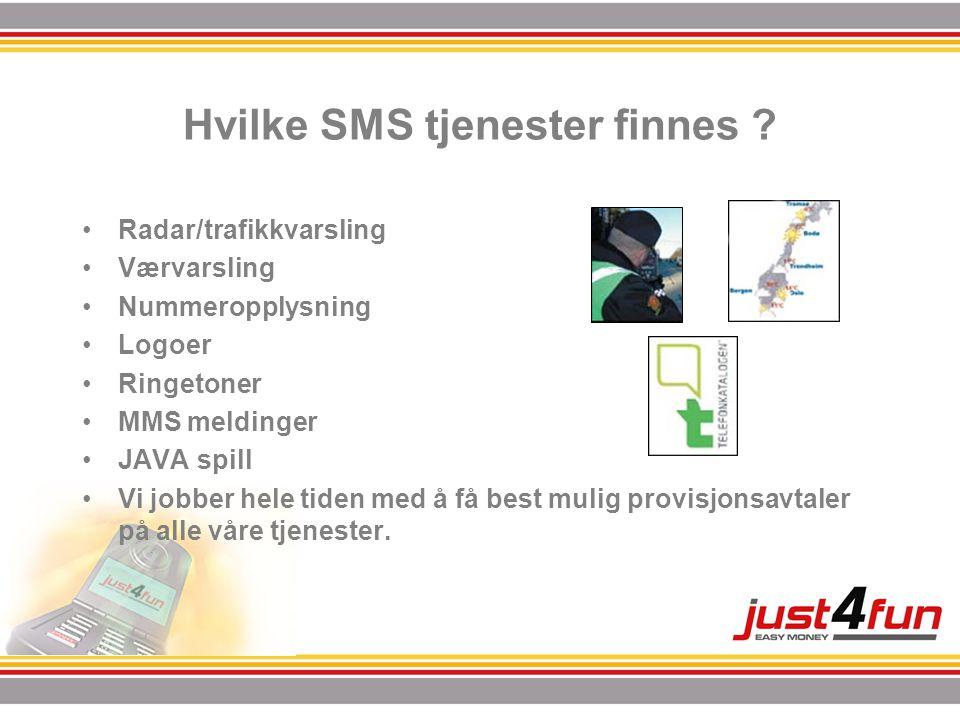Hvilke SMS tjenester finnes .