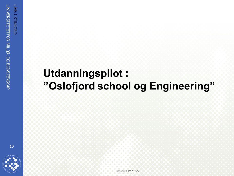 UNIVERSITETET FOR MILJØ- OG BIOVITENSKAP www.umb.no UMB I STIKKORD 11 Målsetting -bedre kvaliteten i de teknologiske utdanningene -bedre søkning til teknologiske studier i Norges tettest befolkede område -samle kompetansen innen teknologi i regionen -styrke Oslofjord-regionens konkurransekraft gjennom koordinering og synliggjøring av den samlede teknologiske FoU-kompetanse School of Engineering vil bli Norges fremste industrinære kunnskapstilbyder innen teknologi Gjennom etablering av School of Engineering vil vi: