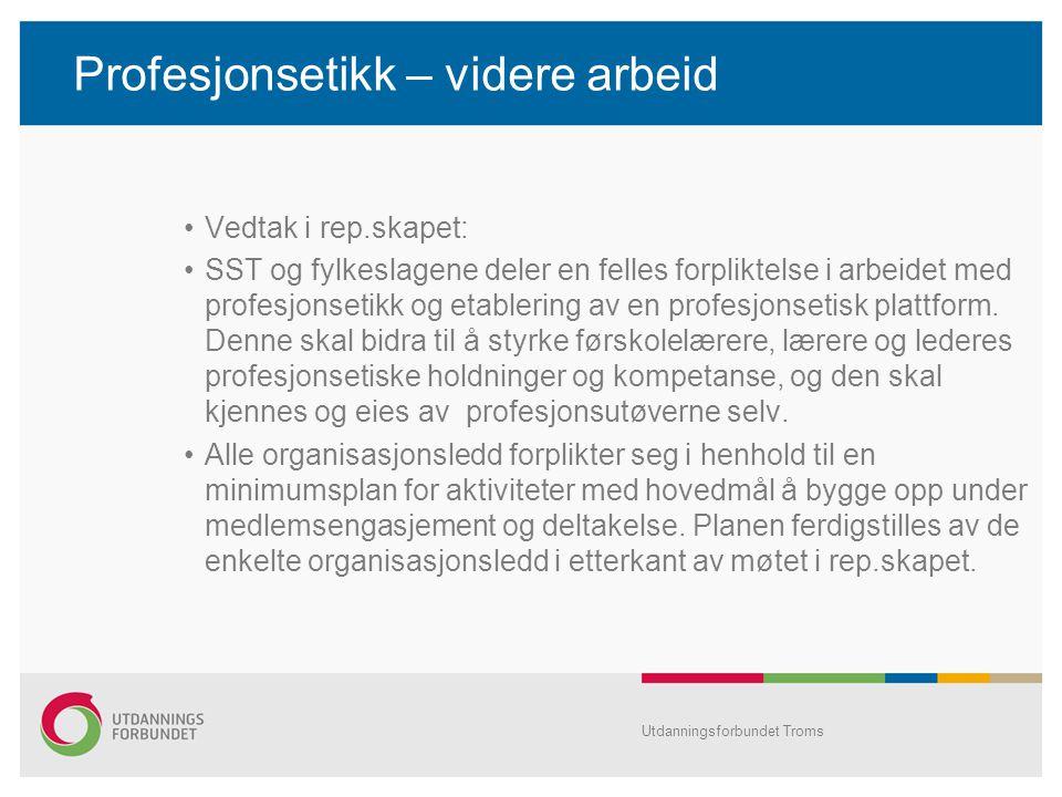 SFS 2213 •Behov for en mer solid avtale •Oppsummert høring oversendt sentralleddet •Bra deltakelse fra Troms.