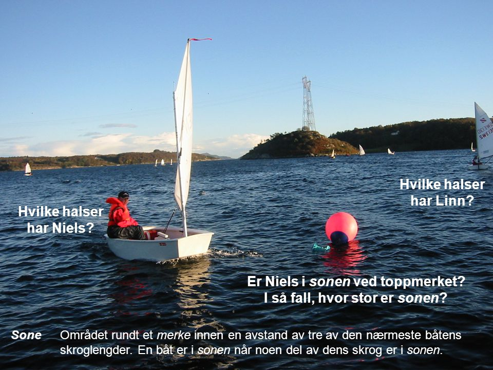 Riktig kursEn kurs en båt ville seile for å fullføre så hurtig som mulig i fra- vær av de andre båtene det refereres til i regelen som benytter uttryk