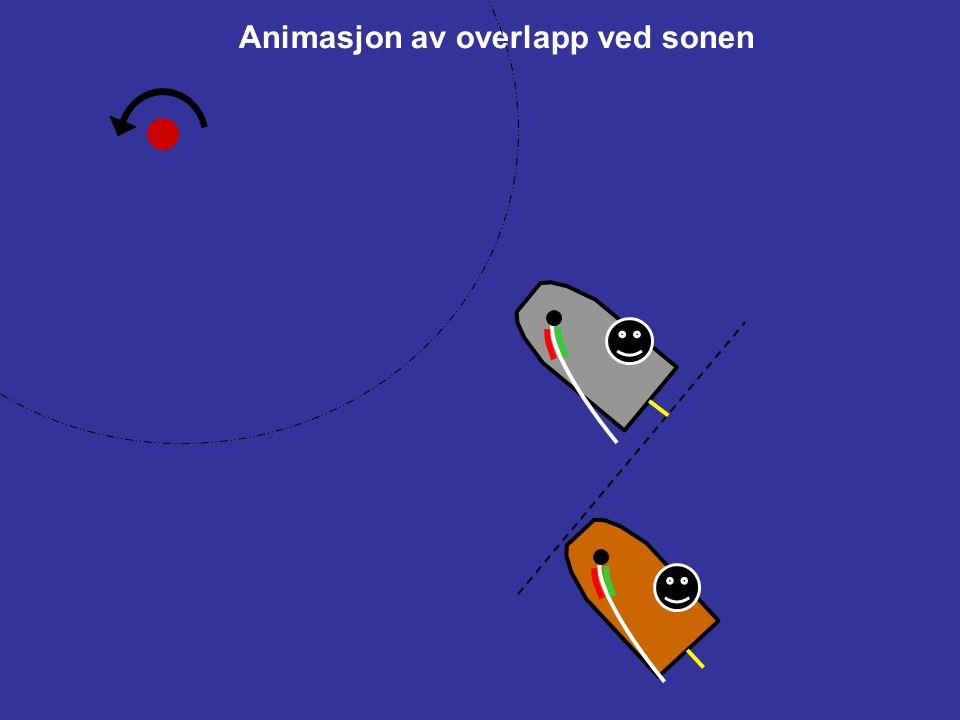 18.2Gi merkeplass (a)Når båter er overlappet skal den ytre båten gi den indre båten merkeplass, med mindre regel 18.2(b) gjelder. (b)Hvis båter er ove