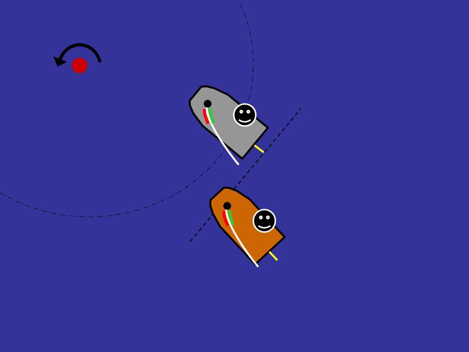 Regel 18.2(b) (i det øyeblikk …) Har båten på innsiden rett til merkeplass ?