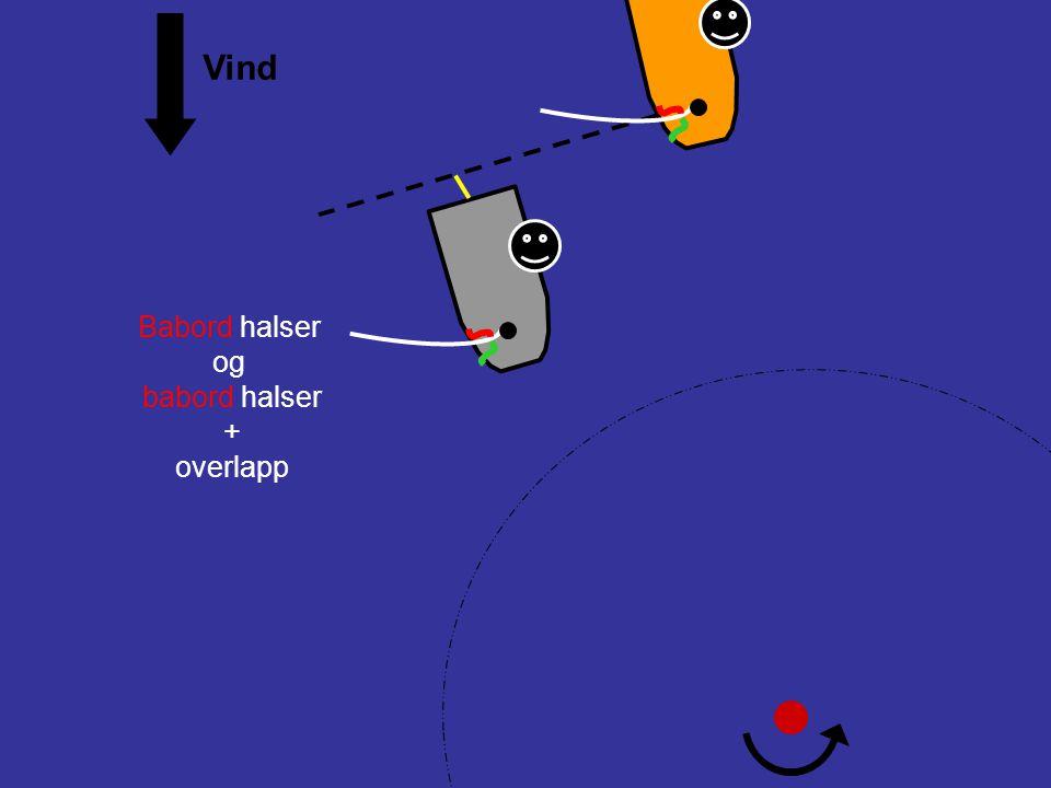 Protest ! 18.2Gi merkeplass (a)Når båter er overlappet skal den ytre båten gi den indre båten merkeplass, med mindre regel 18.2(b) gjelder. (b)Hvis bå