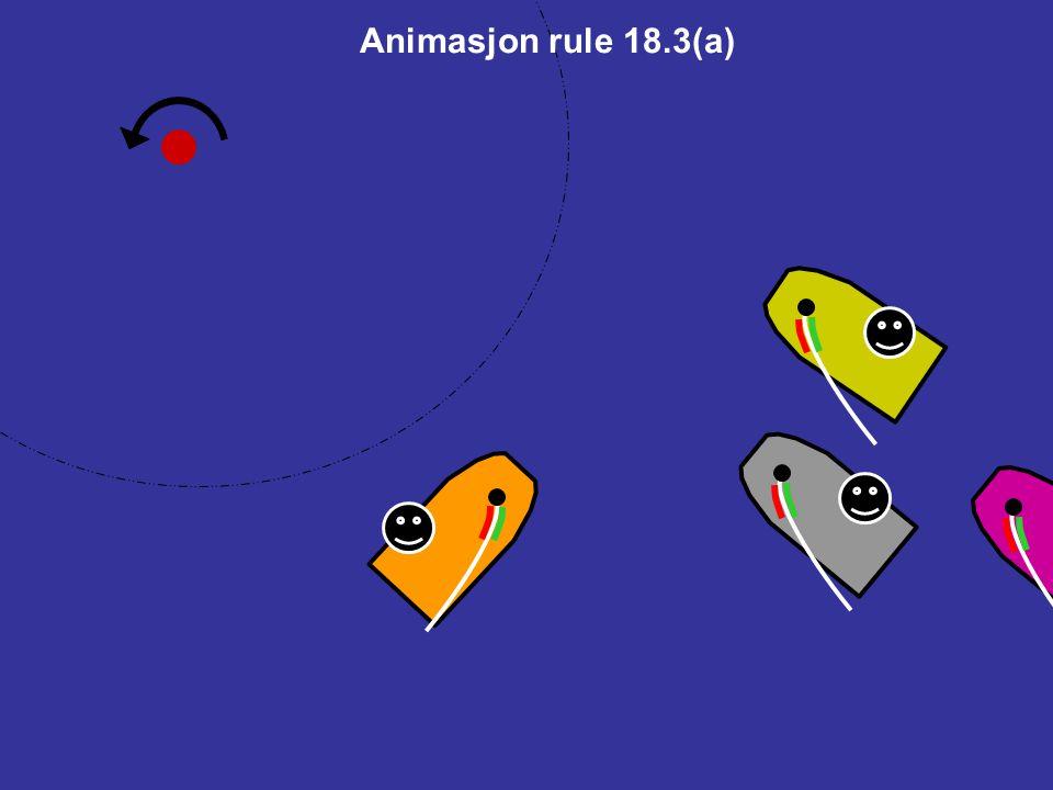 18.3Stagvending i sonen Hvis en båt i sonen passerer vindøyet og derved er for samme halser som en båt som står opp merket, gjelder regel 18.2 deretter ikke mellom dem.