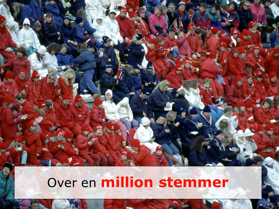 Over en million stemmer
