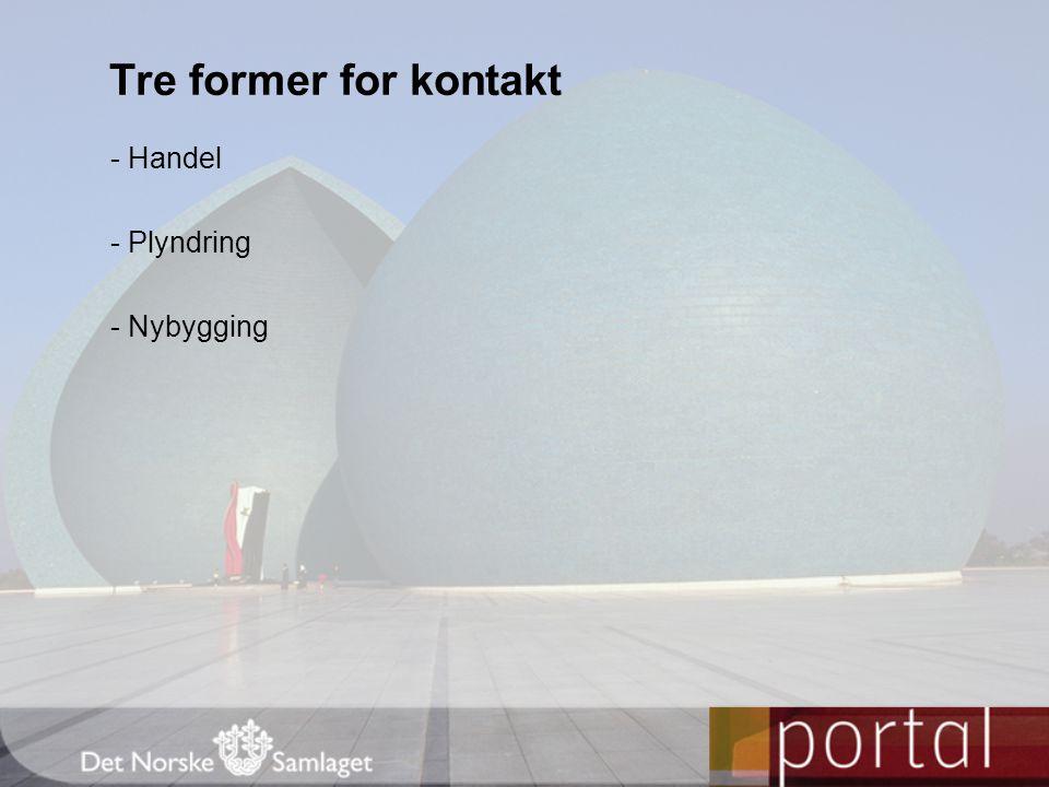 - Handel - Plyndring - Nybygging Tre former for kontakt