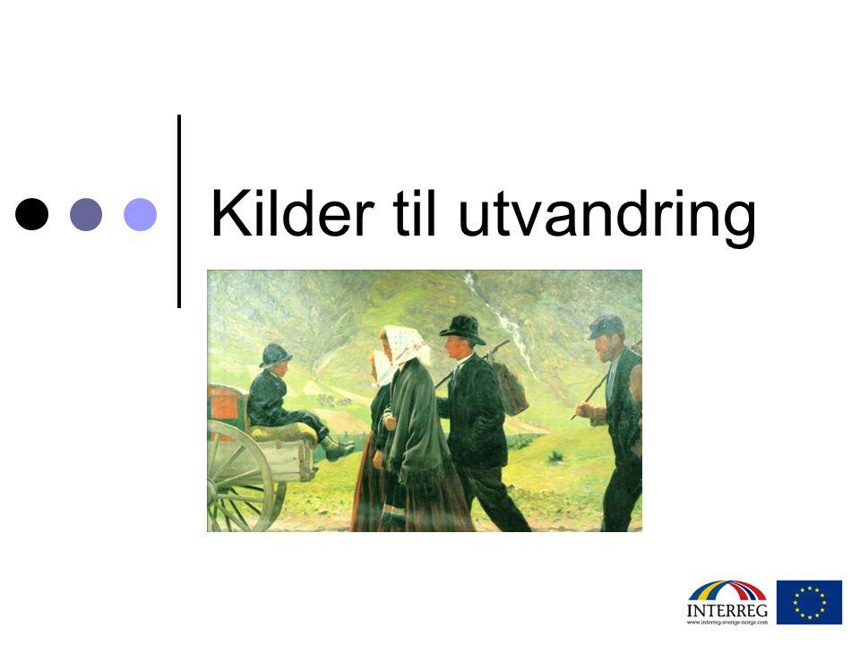 Svenske kilder – Emigranten Populär (2006)  Emibas Värmland: Värmlänningar som emigrerat genom tiderna.