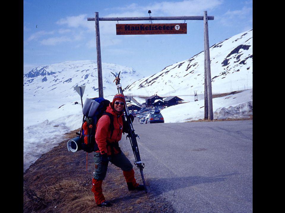 Billedtekst: Fornøyd fjellskientusiast ved Haukeliseter.