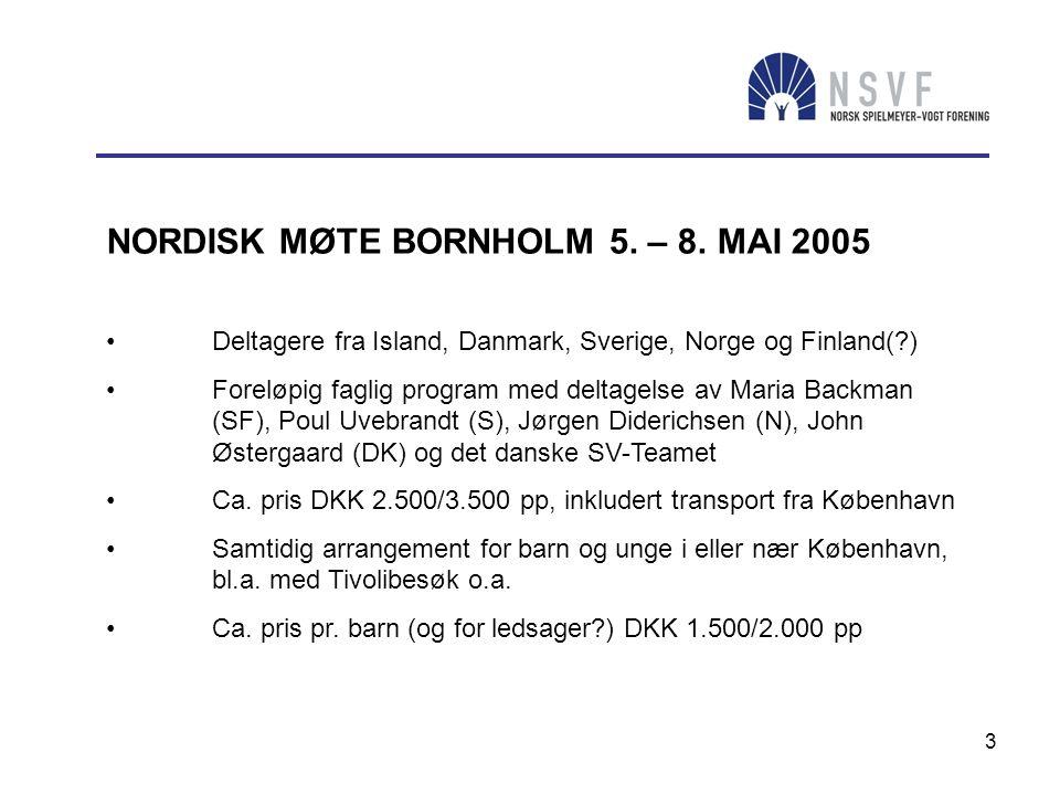 3 NORDISK MØTE BORNHOLM 5. – 8. MAI 2005 • Deltagere fra Island, Danmark, Sverige, Norge og Finland(?) • Foreløpig faglig program med deltagelse av Ma