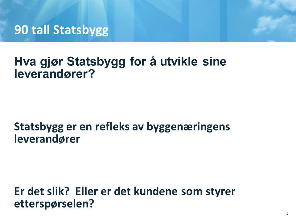 90 tall Statsbygg  Hva gjør Statsbygg for å utvikle sine leverandører.
