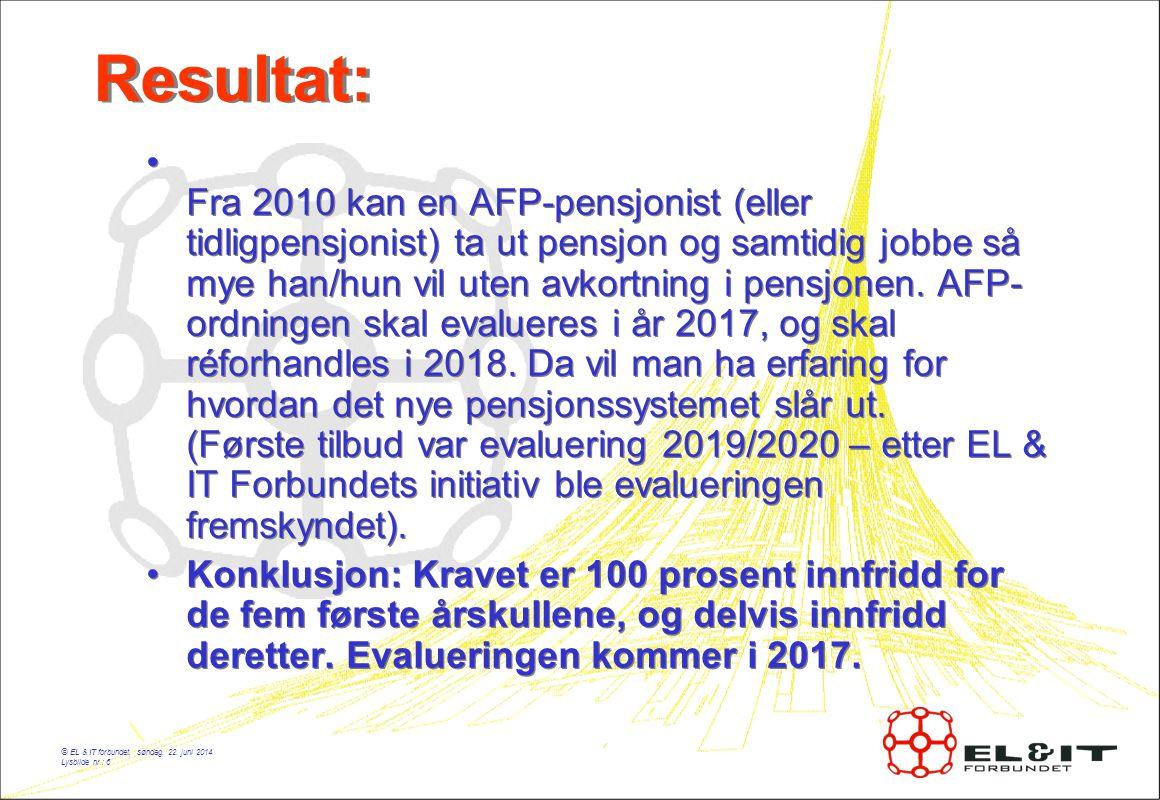 © EL & IT forbundet, søndag, 22.