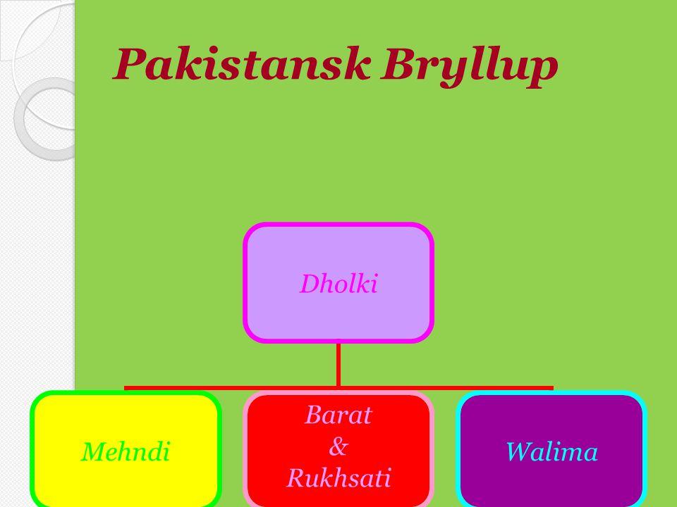 Pakistansk Bryllup Dholki Mehndi Barat & Rukhsati Walima