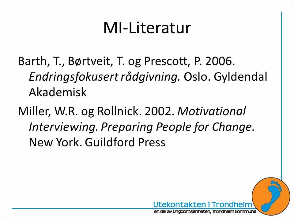 MI-Literatur Barth, T., Børtveit, T.og Prescott, P.