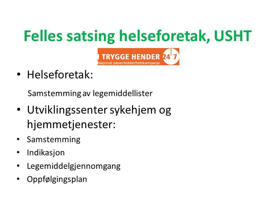 Behov for kompetanse i kommunene Læringsnettverk i Møre og Romsdal, samstemming, legemiddelgjennomgang • Sykehusapotek være støttespiller.