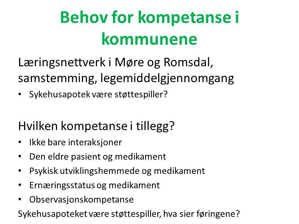 Erfaringer fra multidoseprosjektet Kriterier/utvelgelse pasienter • Ålesund kommune • Pasienter som overføres fra sykehus til hjemmet.