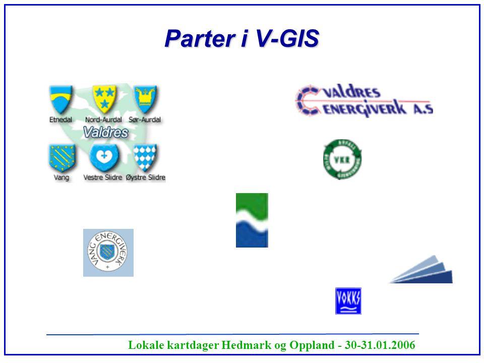Lokale kartdager Hedmark og Oppland - 30-31.01.2006 Parter i V-GIS