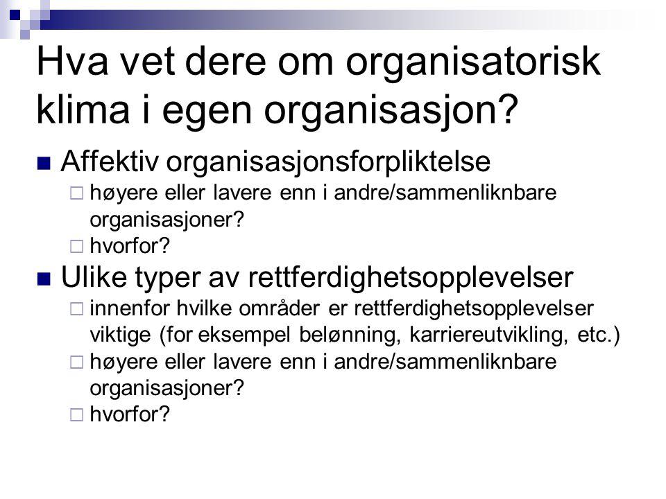 Professor Bård Kuvaas Oppsummering