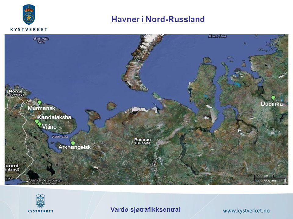 Arkhangelsk Dudinka Murmansk Vitino Kandalaksha Havner i Nord-Russland