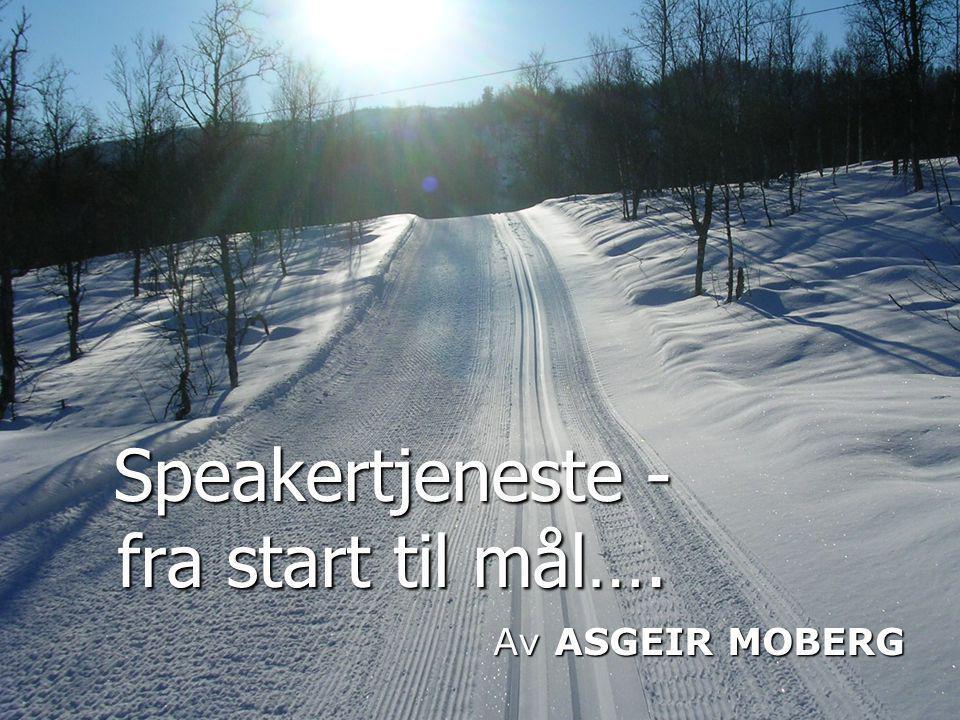 Informere - hvordan.• For hvem er du speaker. • Om deg selv… nei.