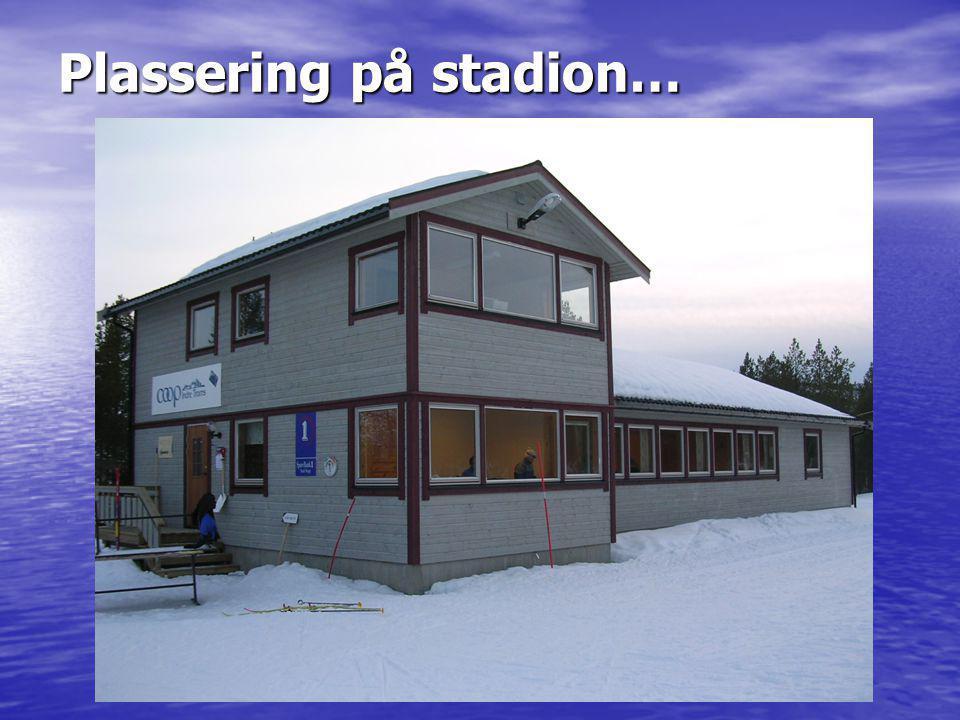 Plassering på stadion…
