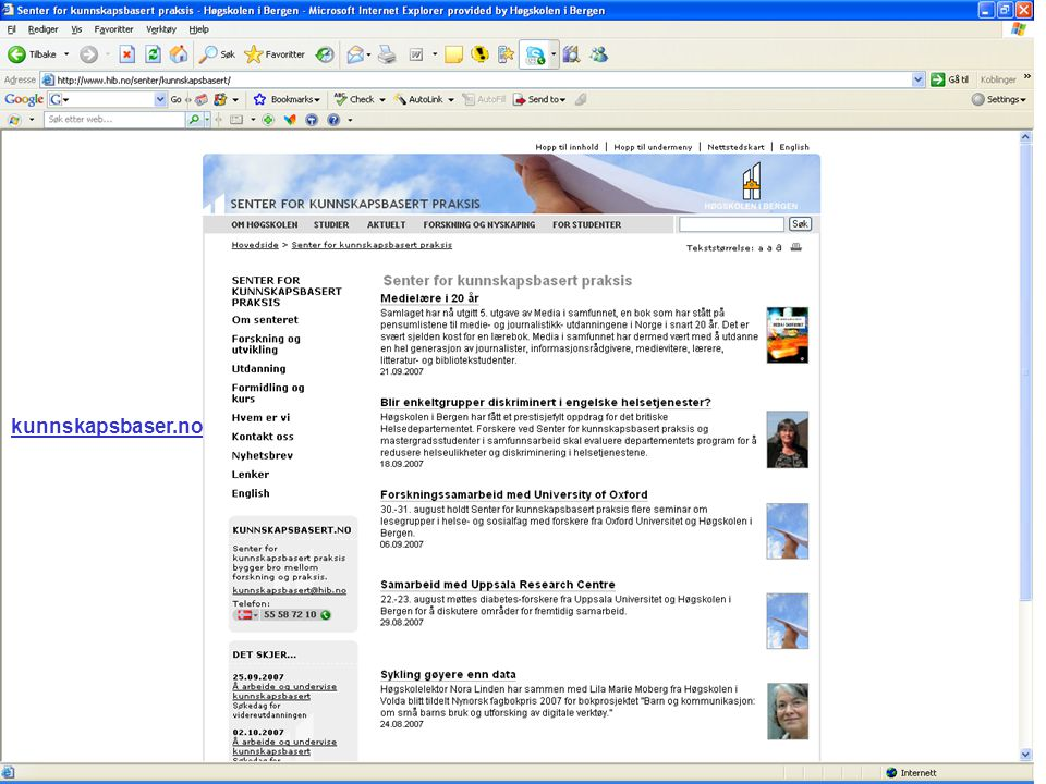 MWN 2007 kunnskapsbaser.no