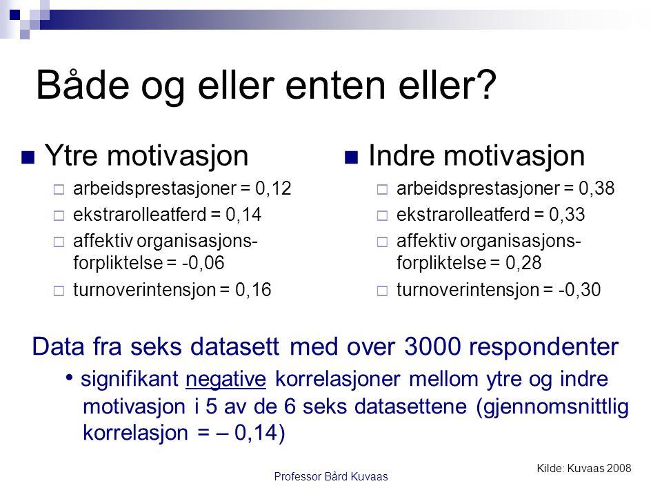 Professor Bård Kuvaas Både og eller enten eller.