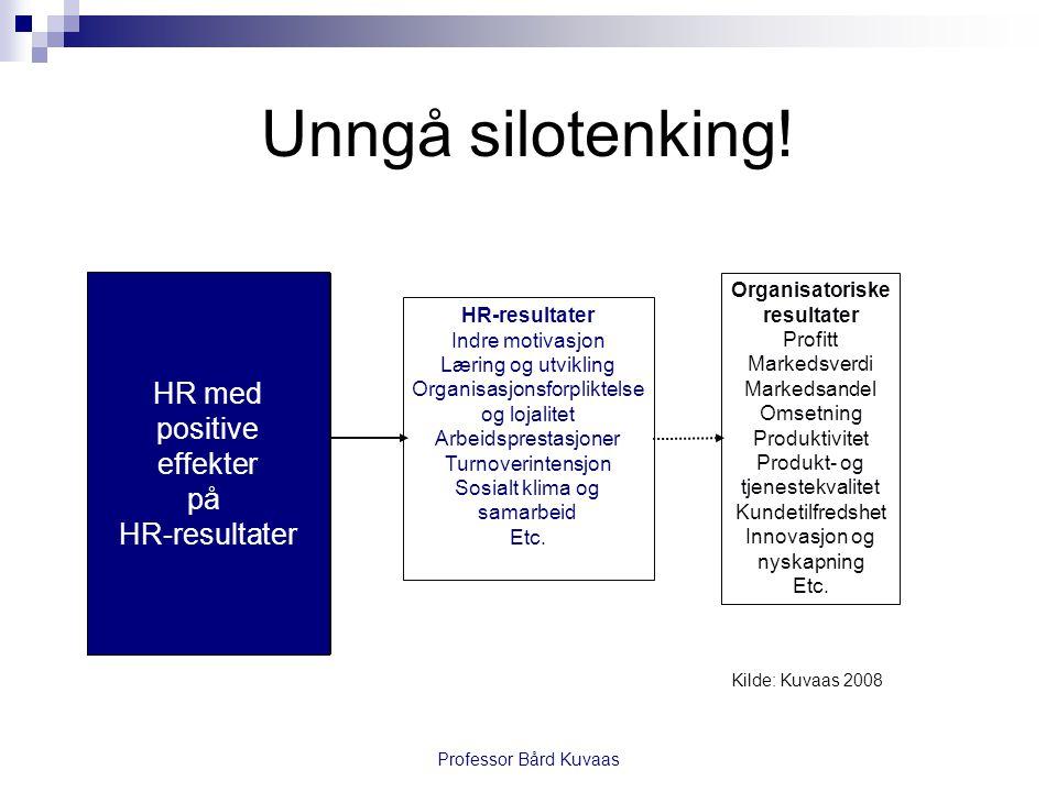 Professor Bård Kuvaas Unngå silotenking.
