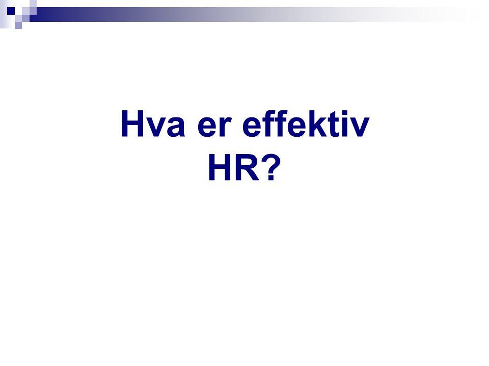 Hva er effektiv HR?