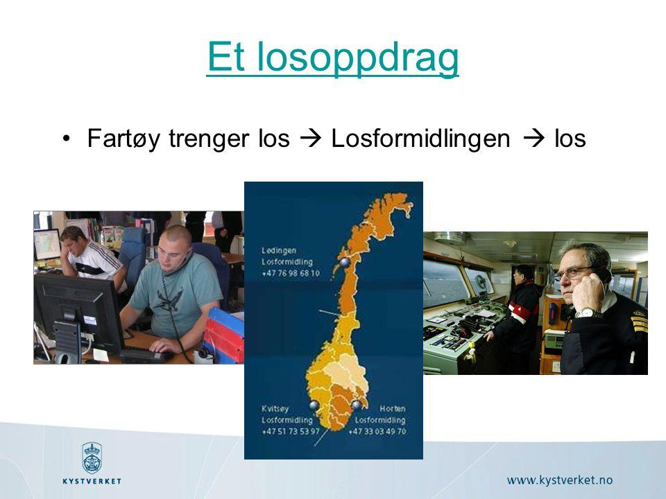 Et losoppdrag •Fartøy trenger los  Losformidlingen  los