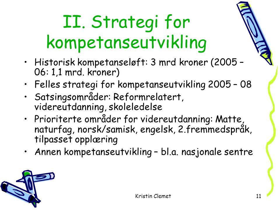 Kristin Clemet11 II.