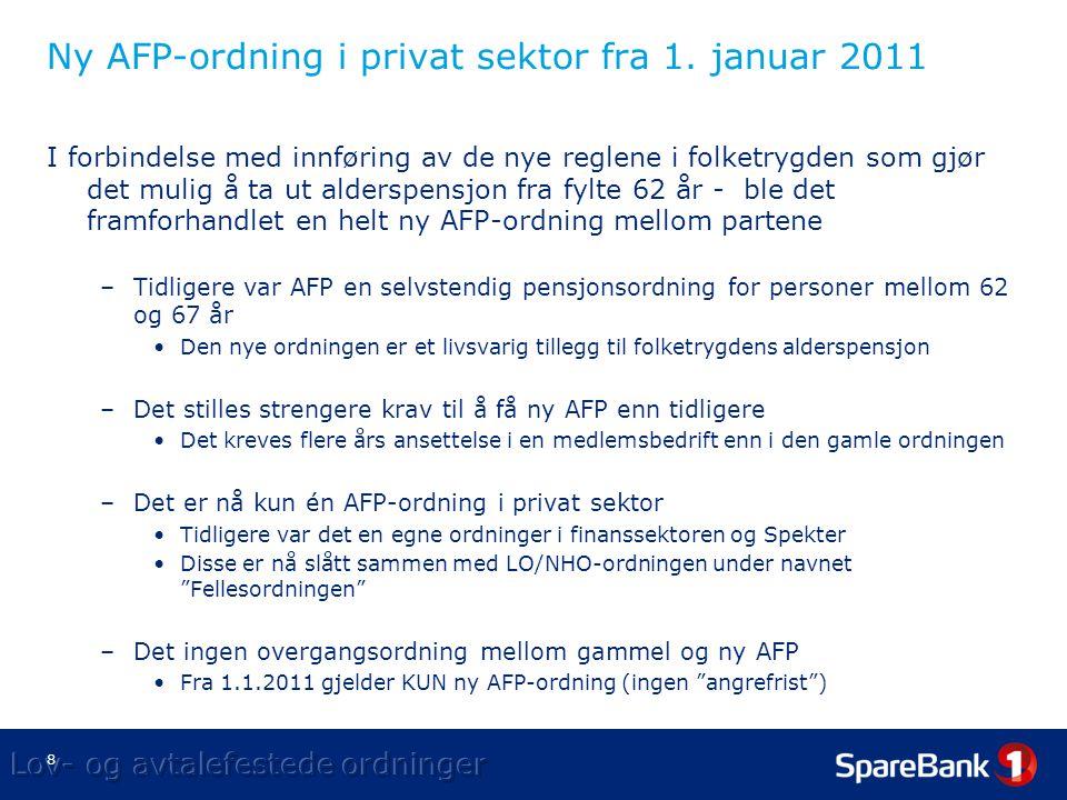 8 Ny AFP-ordning i privat sektor fra 1.