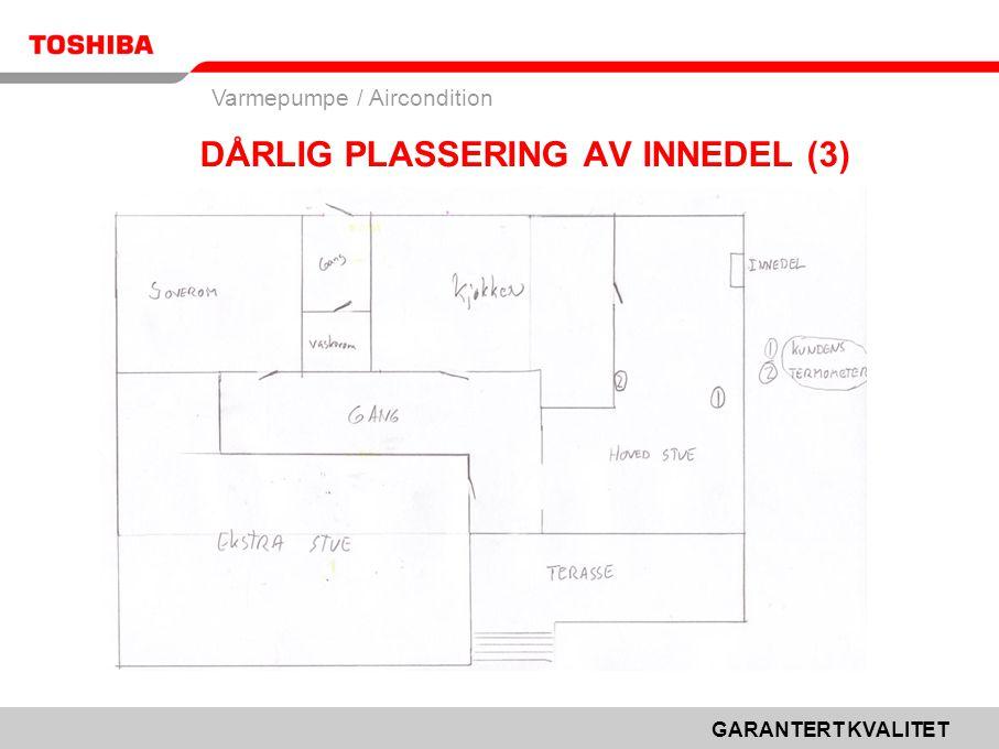 GARANTERT KVALITET Varmepumpe / Aircondition DÅRLIG PLASSERING AV INNEDEL (3)