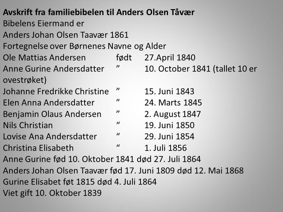 Femte bruker • Albert Olsen, g.m. Ingebjørg • Kjøpekontrakt med kårytelser fra 1914