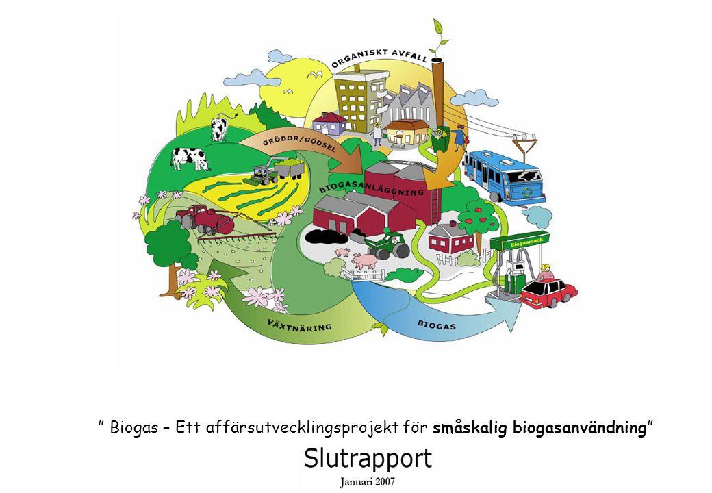 """"""" Biogas – Ett affärsutvecklingsprojekt för småskalig biogasanvändning"""""""