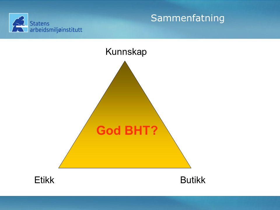 Kunnskap EtikkButikk Sammenfatning God BHT