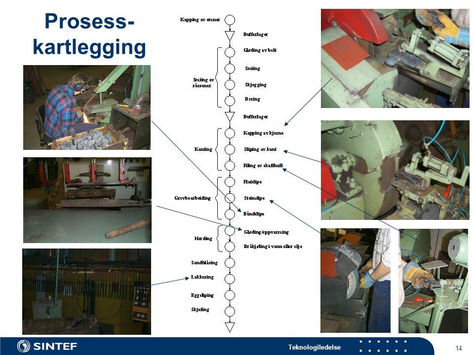 Teknologiledelse 14 Prosess- kartlegging