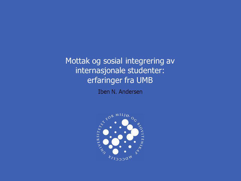 Mottak og sosial integrering av internasjonale studenter: erfaringer fra UMB Iben N. Andersen
