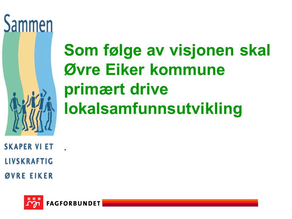 Som følge av visjonen skal Øvre Eiker kommune primært drive lokalsamfunnsutvikling.