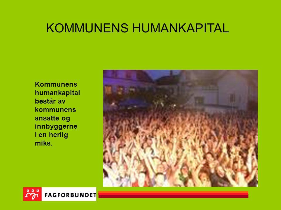 KOMMUNENS HUMANKAPITAL Kommunens humankapital består av kommunens ansatte og innbyggerne i en herlig miks.
