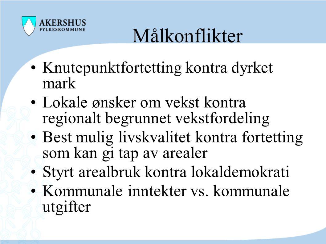 Fortsatt befolkningsvekst Det er konsekvensene av, og tilretteleggingen for, veksten som utgangspunktet for felles planlegging av arealbruk og transportsystem i Oslo og Akershus.