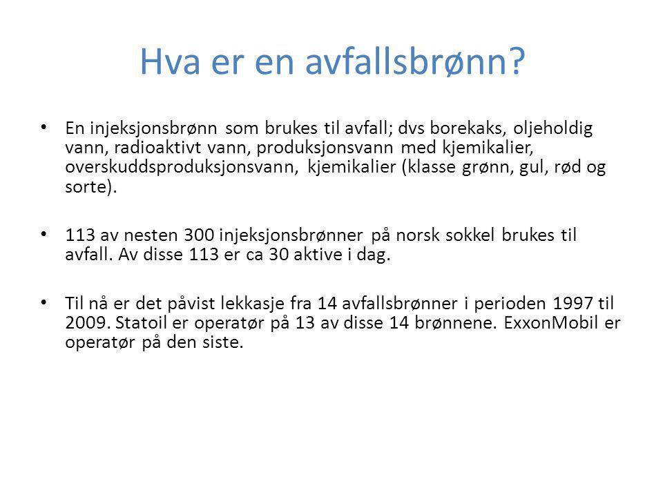 Lekkasjer i 14 avfallsbrønner Veslefrikk 2009, Statoil: Stort krater ved leggen til plattformen.