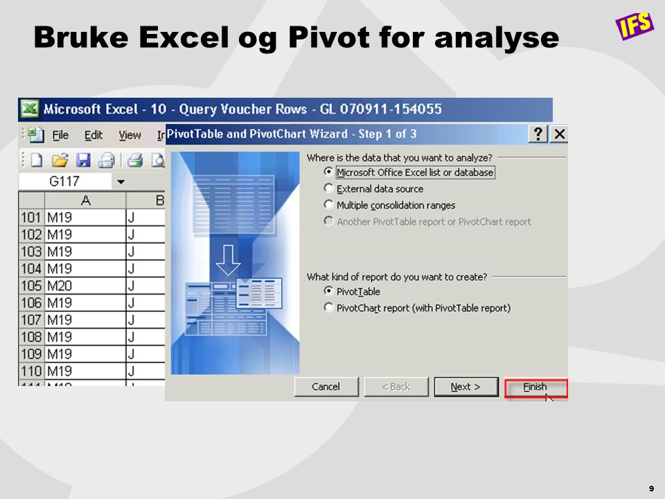 10 Bruke Excel og Pivot for analyse
