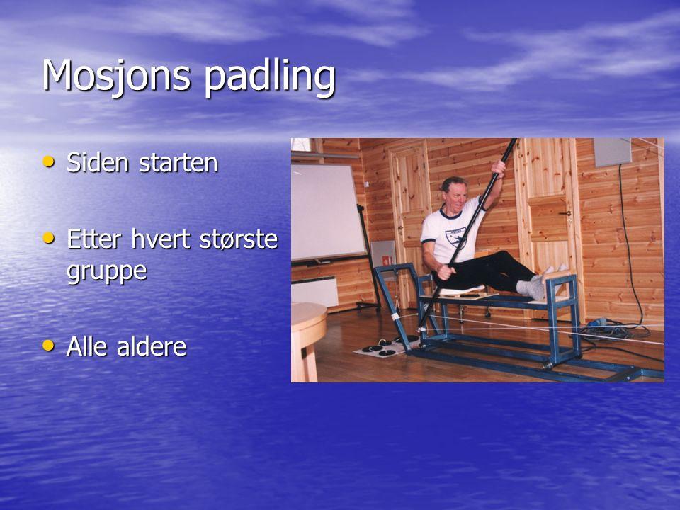 Mosjons padling • Siden starten • Etter hvert største gruppe • Alle aldere