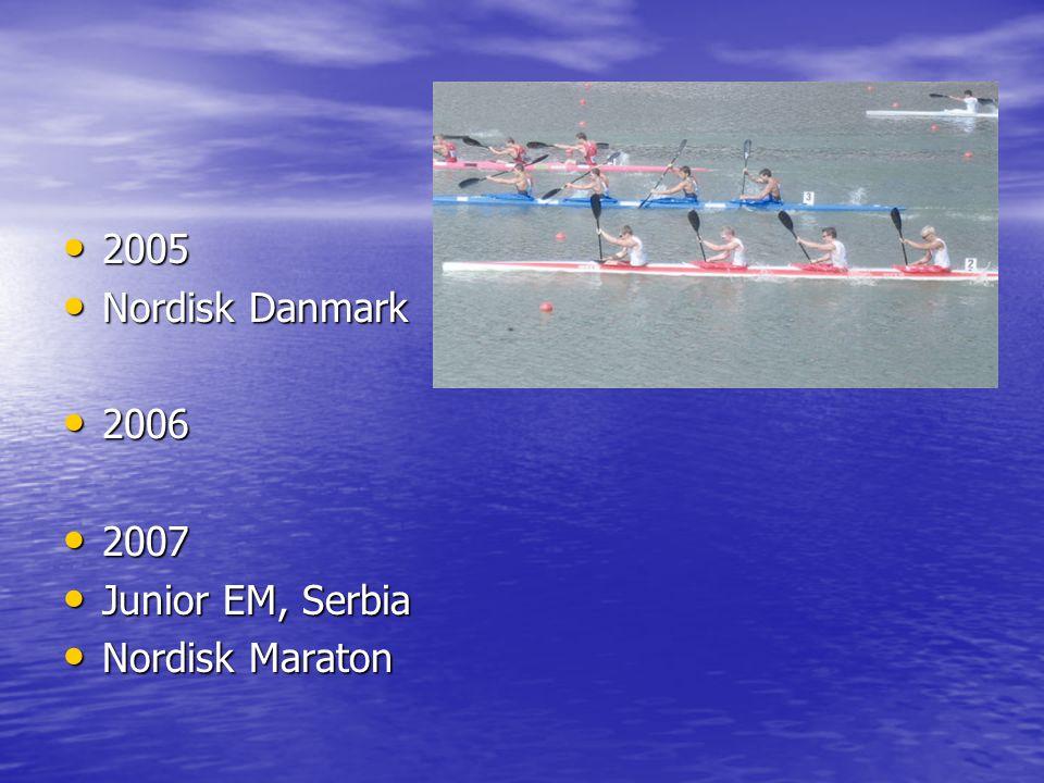 • 2005 • Nordisk Danmark • 2006 • 2007 • Junior EM, Serbia • Nordisk Maraton